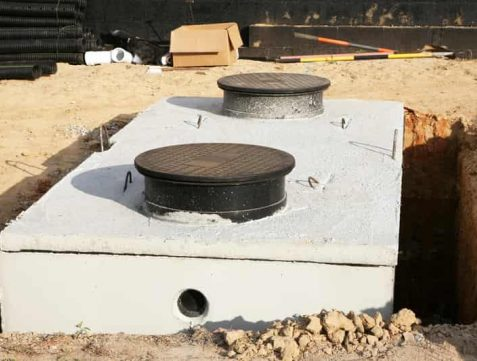 new septic tank being installed in Louisville